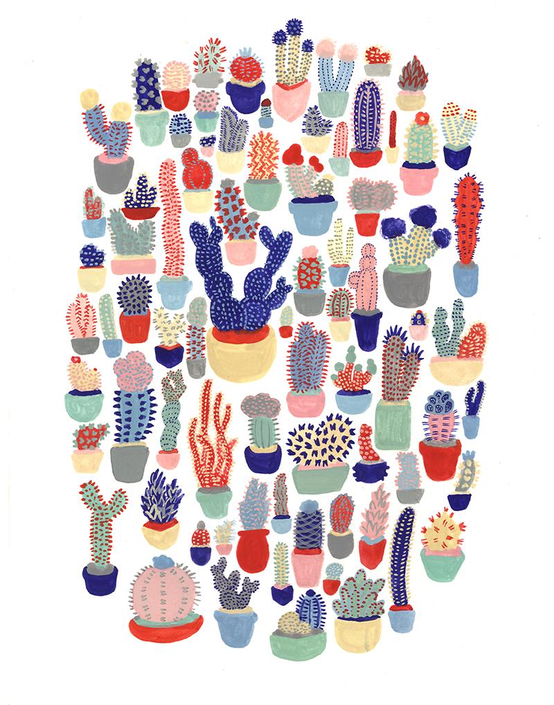 Cactus!  Jessica Hj Lee  Illustration  Pinterest  Cactus And Jessica  Lee