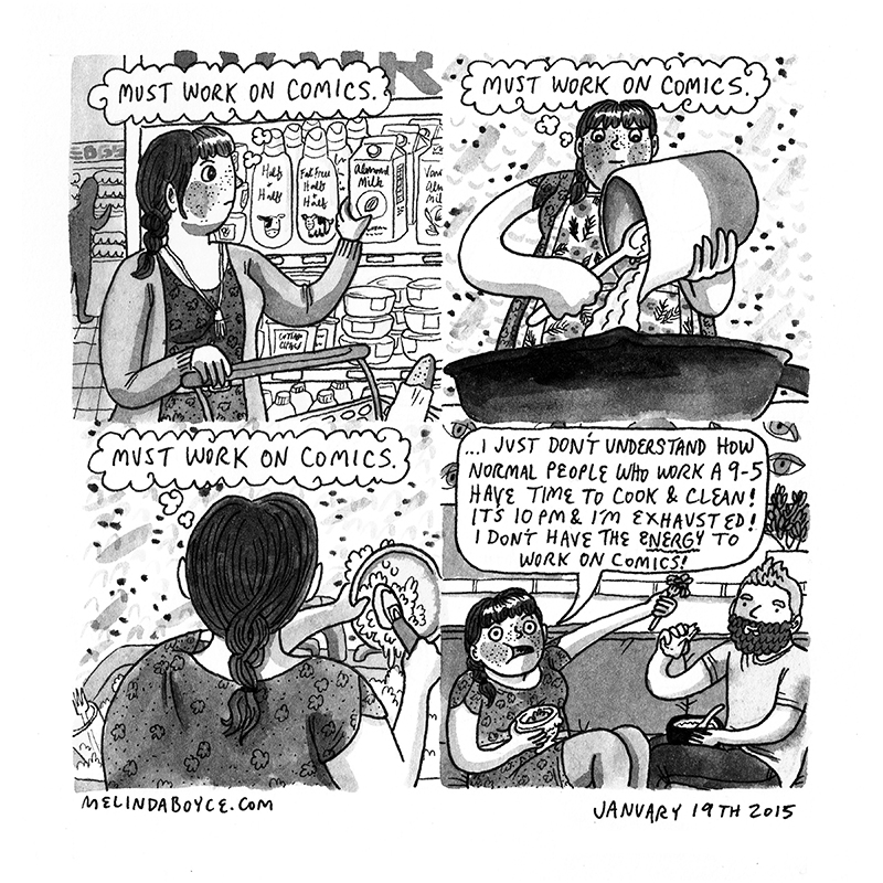 diary comic melinda tracy boyce cooking cleaning how