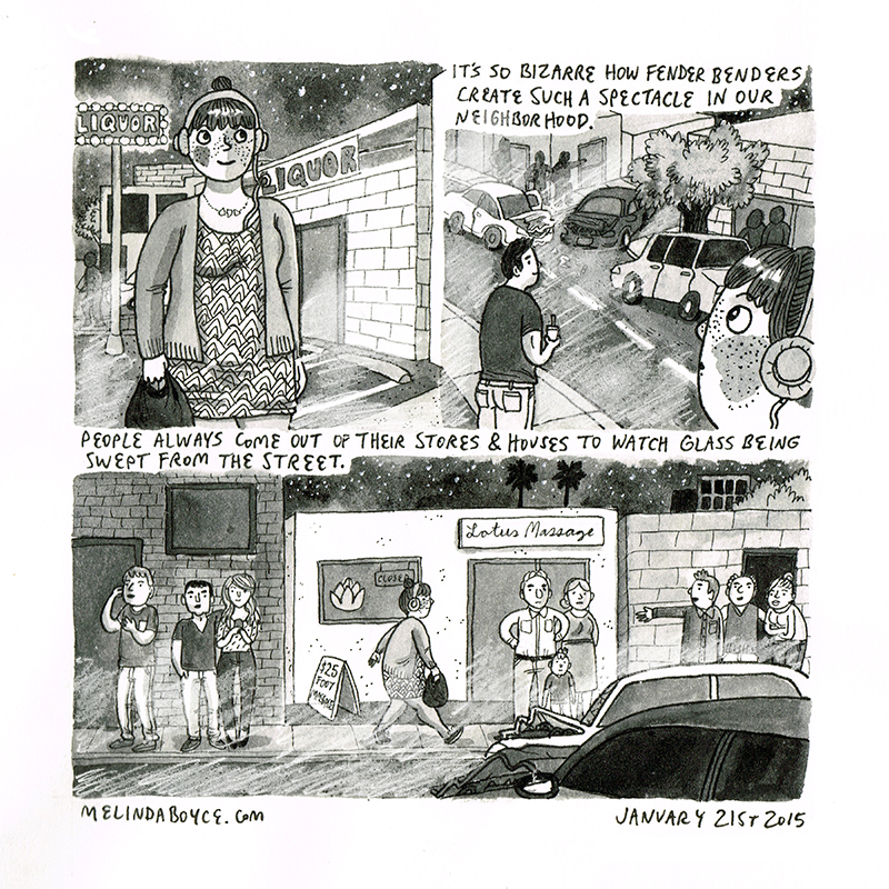 rubberneckers diary comic melinda tracy boyce
