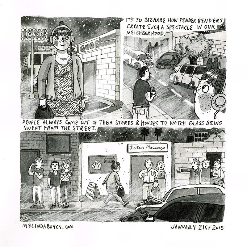 rubberneckers diary comic melinda tracy boyce